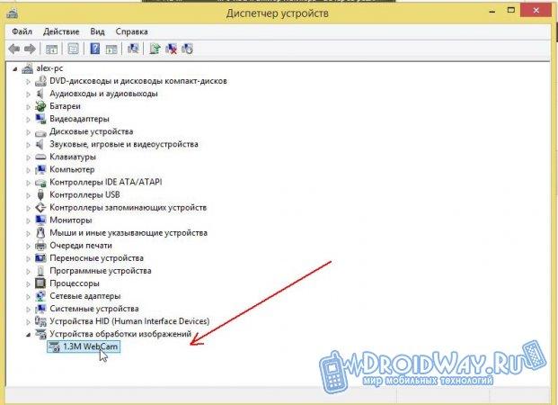 Ищите название, например 1.3M WebCam