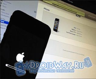 Восстанавливаем iPhone, через iTunes