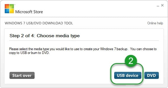 """выбрать вариант загрузки """"USB"""""""