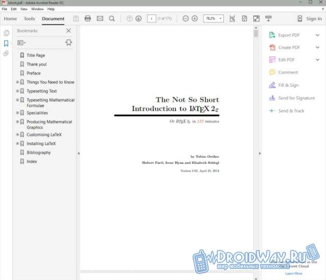 Программу на русском языке для чтения pdf файлов